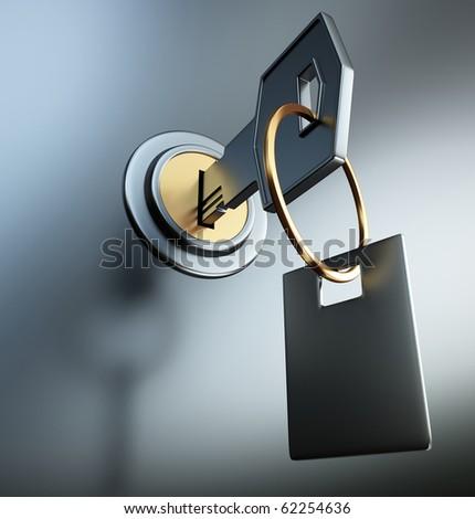 key - stock photo