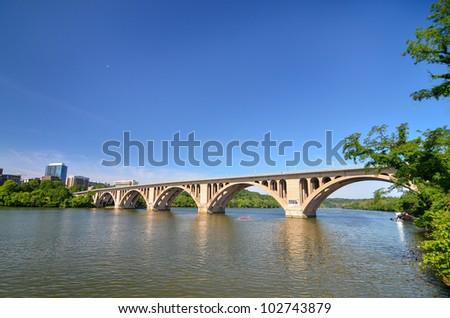 Key Bridge - Washington DC - stock photo