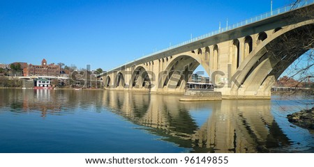 Key Bridge, Washington DC - stock photo