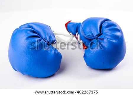 key chain little boxing gloves blue