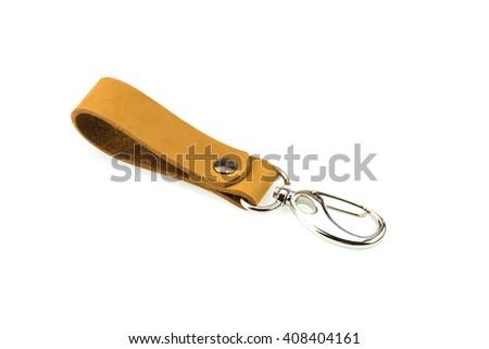 Key chain on white background - stock photo