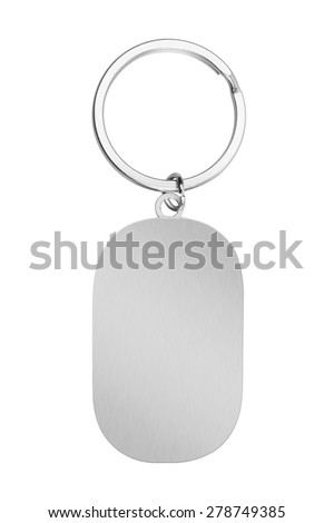Key Chain with space for text, isolated on white background - stock photo