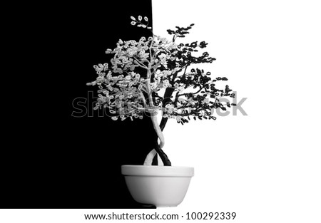 Key element of the concept yin-yang: a normal condition of the universe - the perfect balance. - stock photo