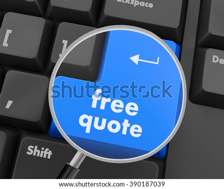 Key for free quote - business concept, raster