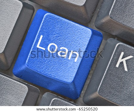key for loan - stock photo
