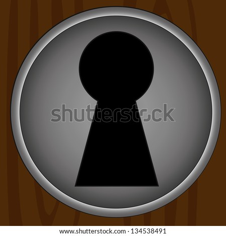 Key hole background vector. Easily put your own photo behind the key hole