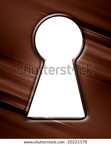 key hole made in a chocolate background