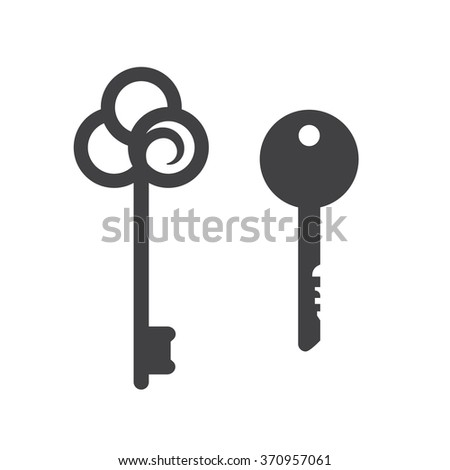 Key icons. Secret and security, illustration