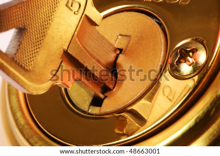 Key in Lock - stock photo