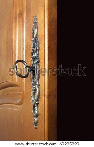 Key In The Door - stock photo