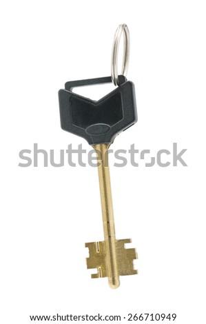 key isolated on a white background - stock photo