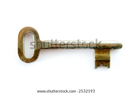 key isolated on white
