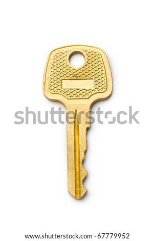 Key isolated on white - stock photo