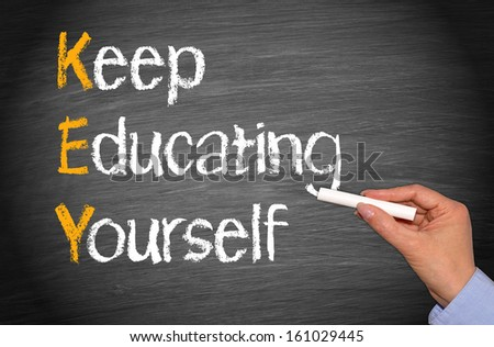 KEY - Keep Educating Yourself - stock photo