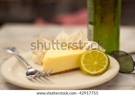 Key Lime Pie in Key West - stock photo