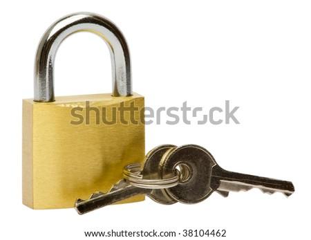 key & lock - stock photo