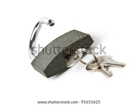 Key lock with a bunch of small keys