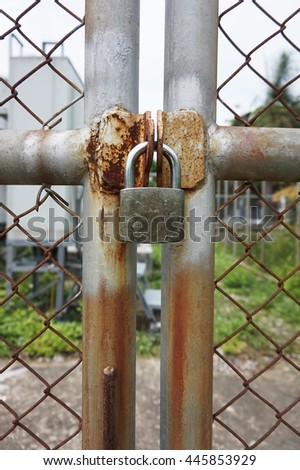 key lock with fence