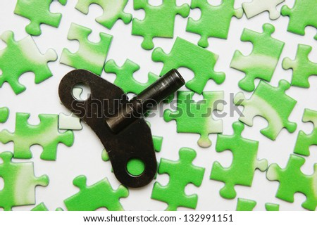 key on the green puzzle