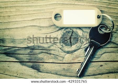 key on the wood backgrounds - stock photo