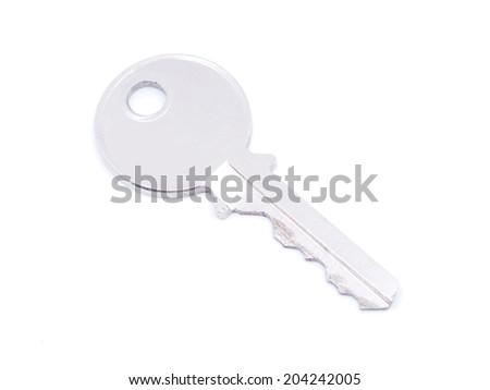 key on white background - stock photo