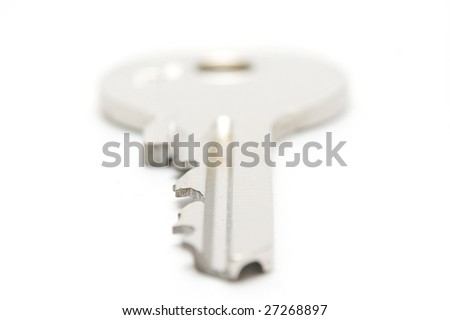 Key on white background.Focus front
