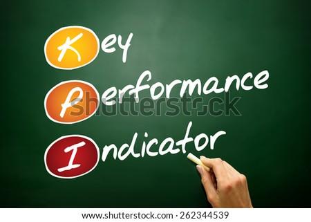 Key performance indicator (kpi), business concept acronym on blackboard - stock photo