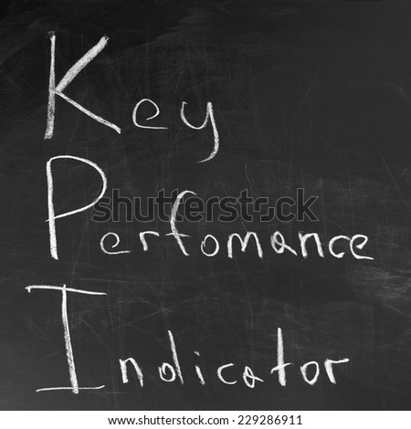 key performance indicator,KPI written on blackboard