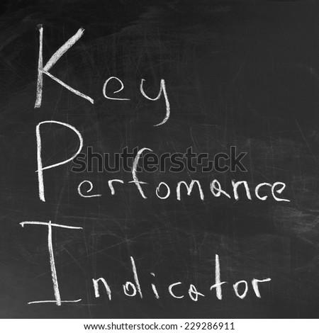 key performance indicator,KPI written on blackboard - stock photo