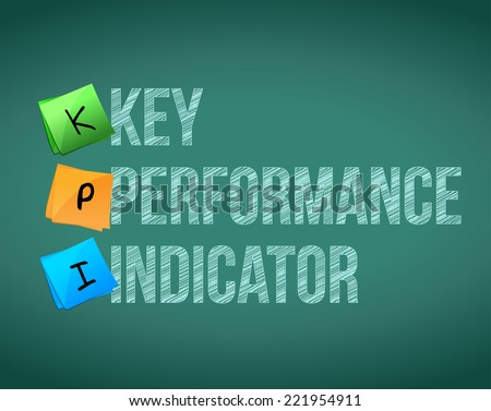 key performance indicator sign illustration design over a chalk background - stock photo