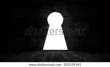 key room with light to exit - stock photo