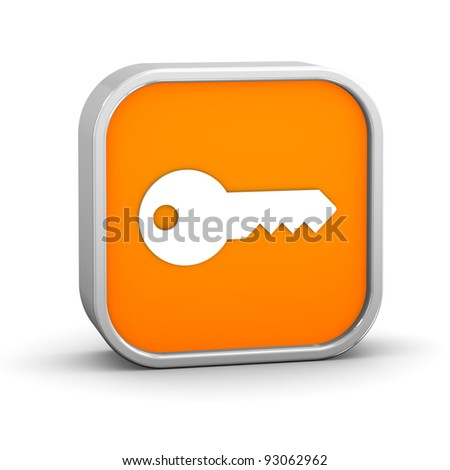 Key Sign on a white background. Part of a series. - stock photo