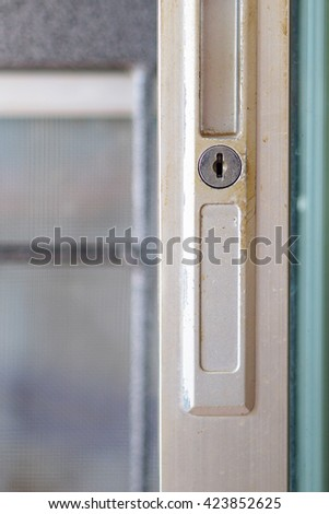 key slot / Old door