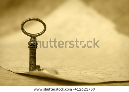 Key - success and solution concept  - stock photo