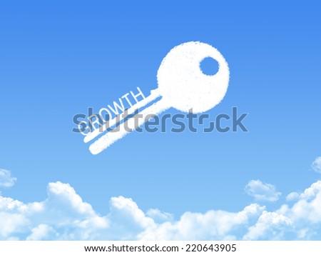 Key to Growth cloud shape - stock photo