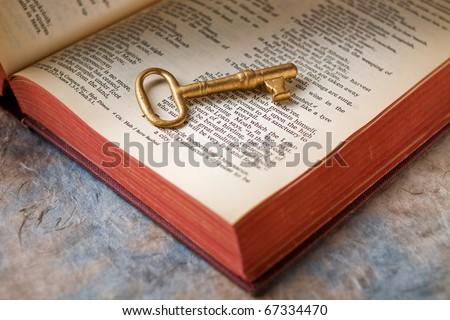 Key to knowledge - stock photo
