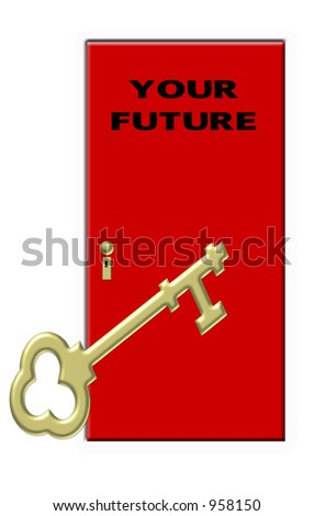 Key to Your Future - Gold Key Red Door