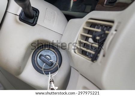 key way : Car key for starting. - stock photo