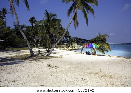 Key West Bahia Honda Beach - stock photo