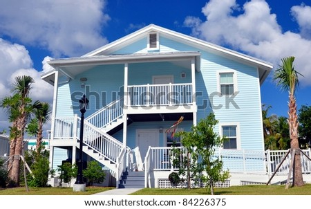 Key west beach house style architecture stock photo for Key west style architecture