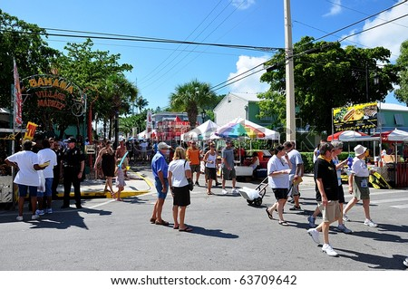 KEY WEST, FLORIDA - OCTOBER 23: Goombay Festival in Bahama Village on October 23, 2010 in Key West, Fl.  This is an annual event.