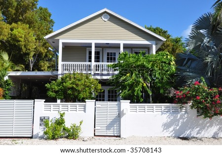 Key west style architecture stock photo for Key west style architecture