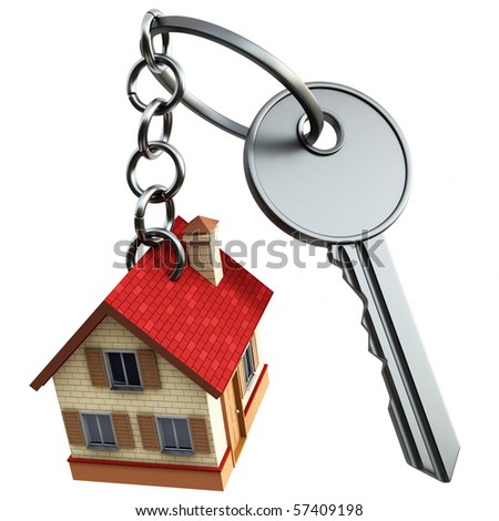 Key with home - stock photo