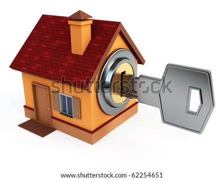 Key with house - stock photo