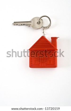 Key with house shaped tag