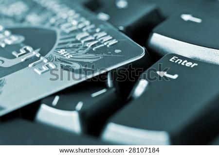 keyboard and credit card concept