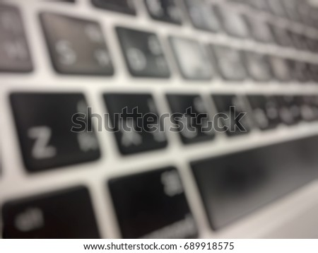 Keyboard, Blured Computer keypad in meaning of Technology and internet activities