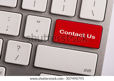 keyboard button with word contact us - stock photo