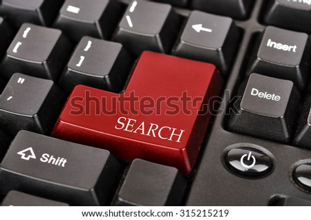"Keyboard Button with Word ""SEARCH"""