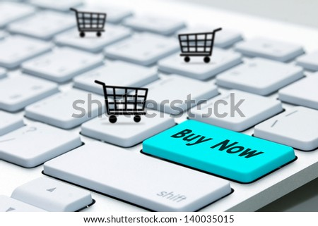 keyboard buy now icon - stock photo